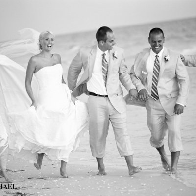 Wedding Party Beach Destination Photos
