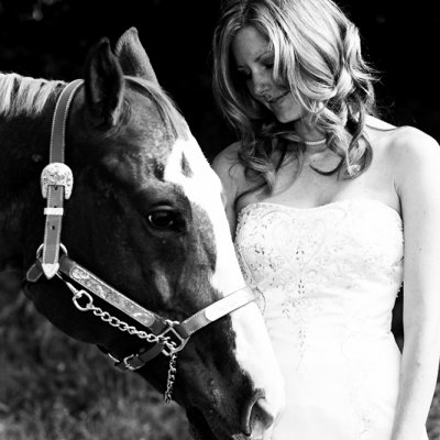 Bridal Portraits with her Horse