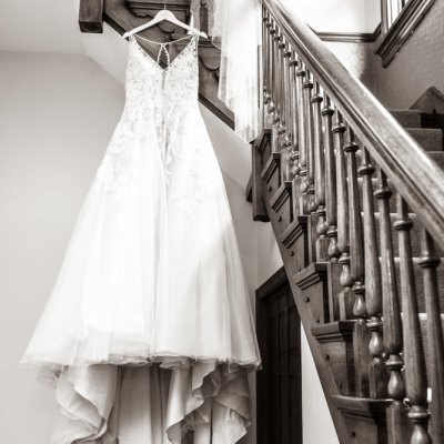 Wedding Dress Staircase