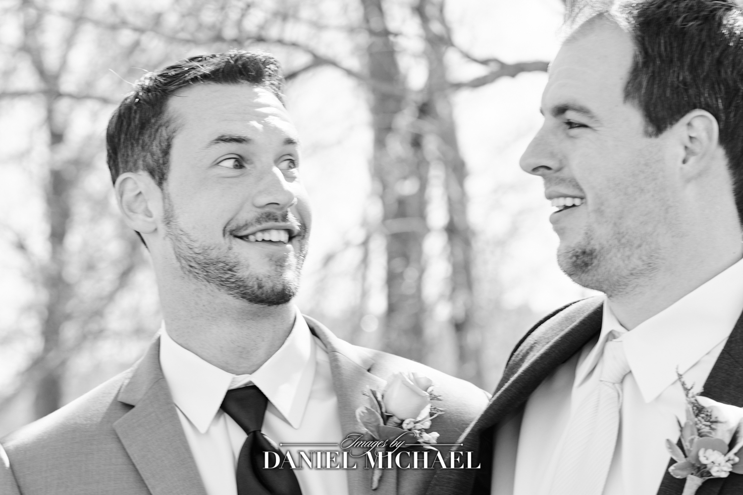 Funny Face Groomsman Wedding Photography