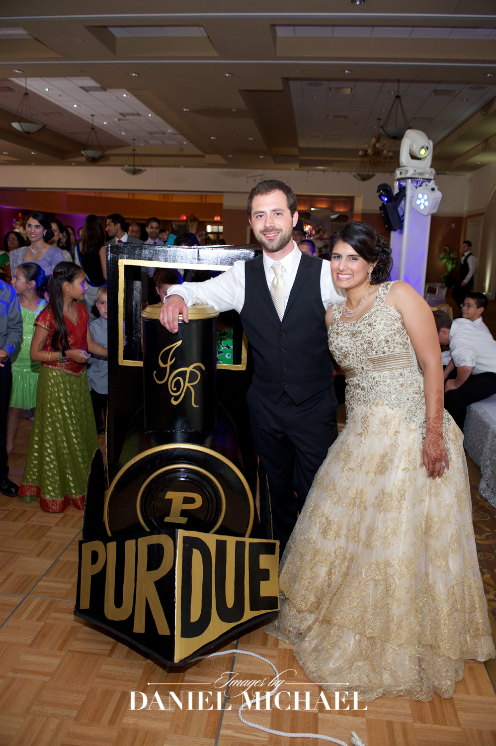 Purdue Train Wedding Photo