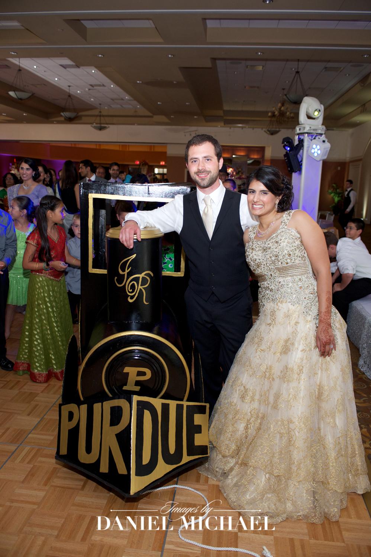Purdue Train Wedding Photo