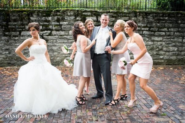 Bridesmaids with the Groom Wedding Photo