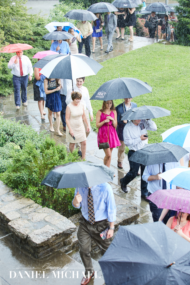 Wedding Ceremony in the Rain