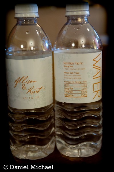 Custom Wedding Water Bottles Photos