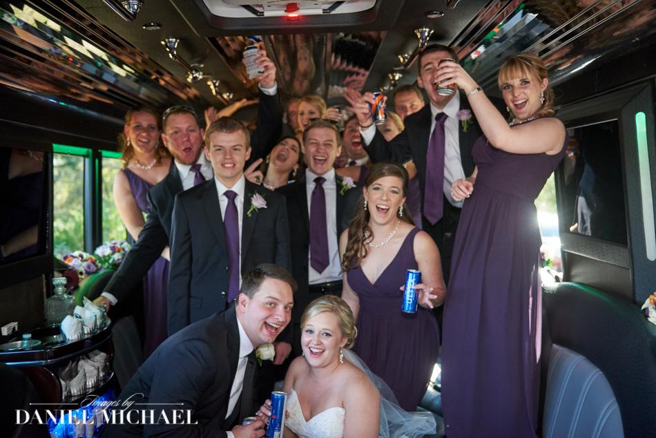 Fun Wedding Party Limo Photos