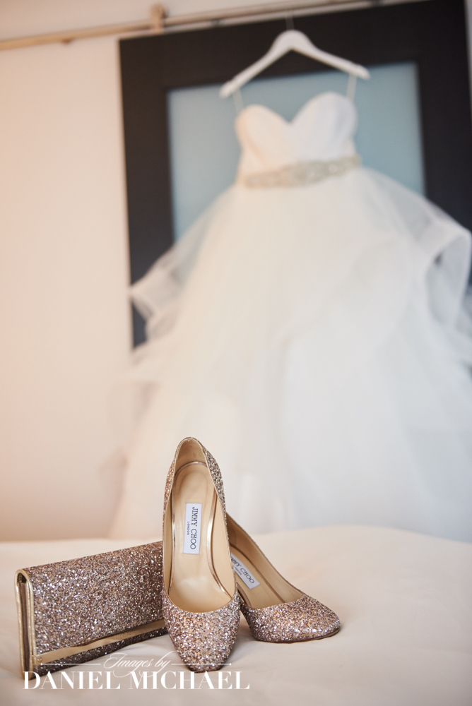 Jimmy Choo Wedding Shoes and Purse