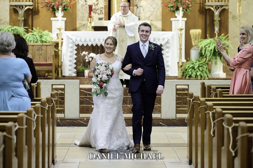 St Dominic Wedding Recessional Photographer