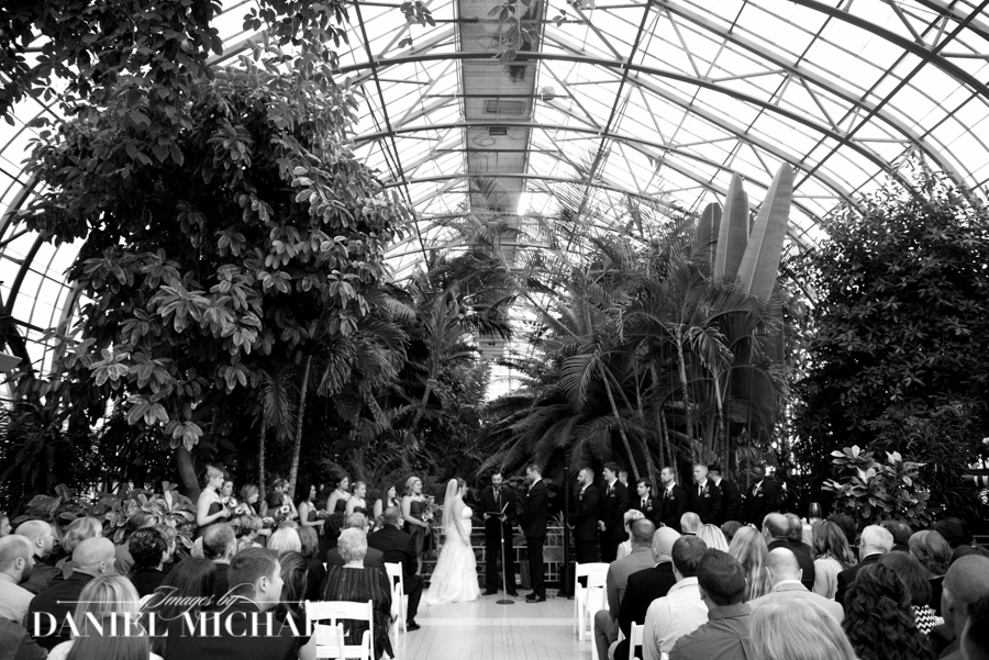 Krohn Conservatory Wedding Ceremony
