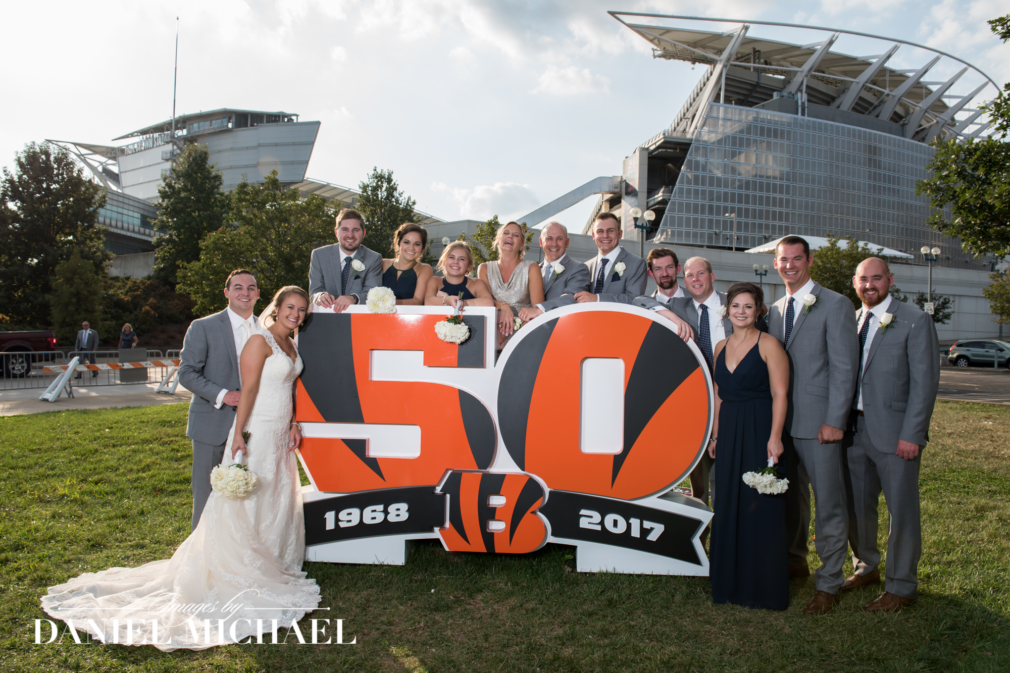 50th Anniversary Bengals Wedding Photo