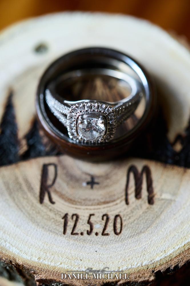 Custom Ring Box with Wedding Rings