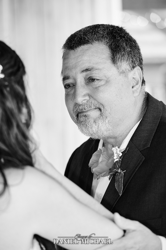 Dad seeing Daughter in Wedding Dress