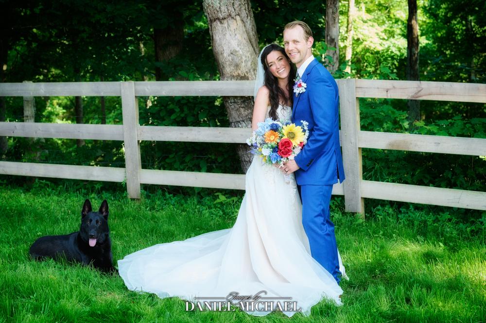 Wedding Photography Couple with Dog