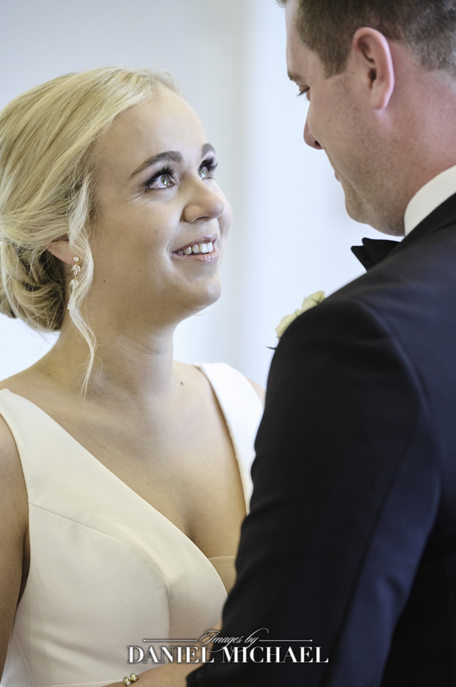 Bride's expression during reveal