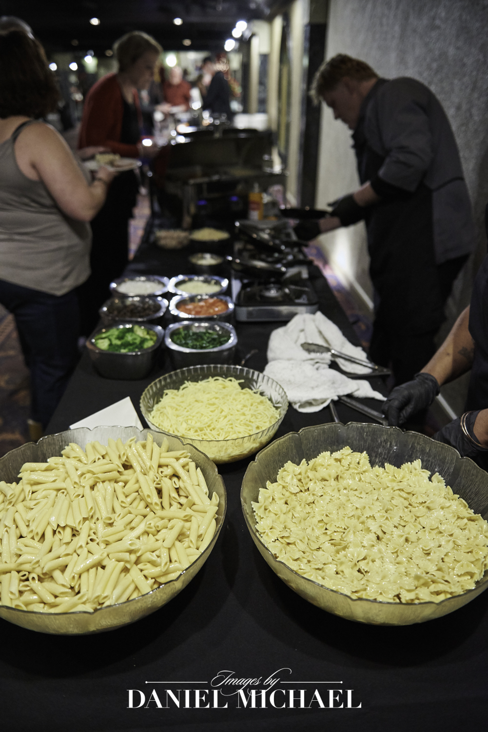 Pasta Station Wedding Photo