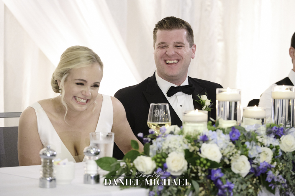 Wedding Toast Couple Reactions