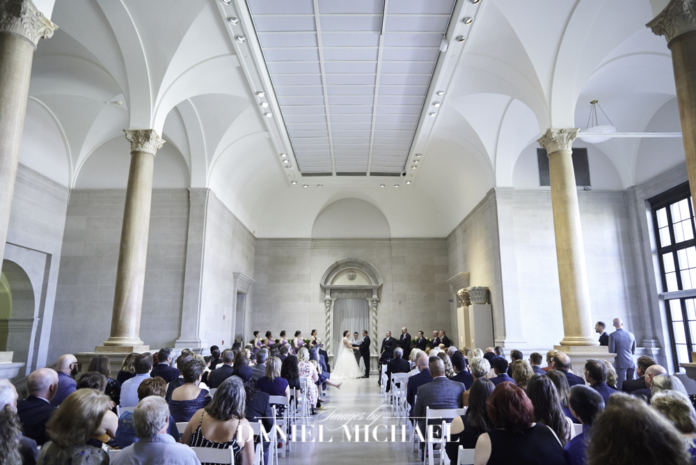 Great Hall Wedding Photography at Dayton Art Institute