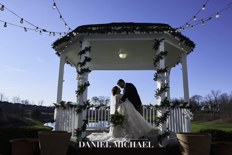 Pebble Creek Gazebo Wedding Photo