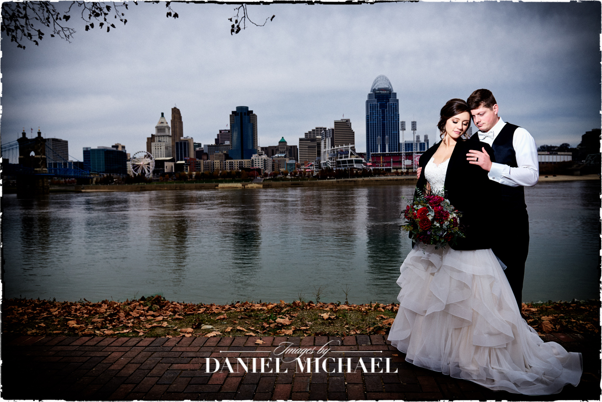Cincinnati Skyline Wedding Photography
