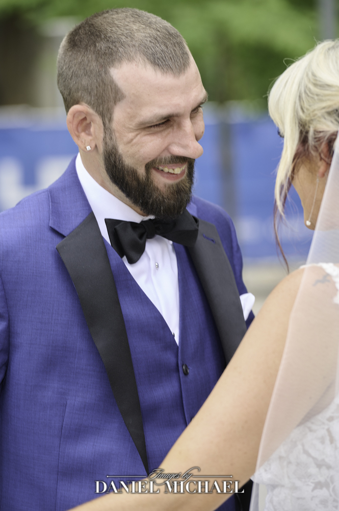 Groom's expression at Bride Reveal