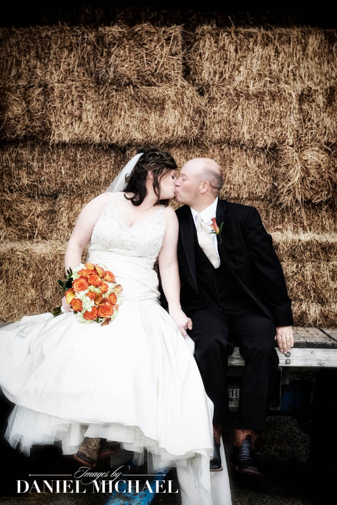 Wedding Photography with Hay Bails