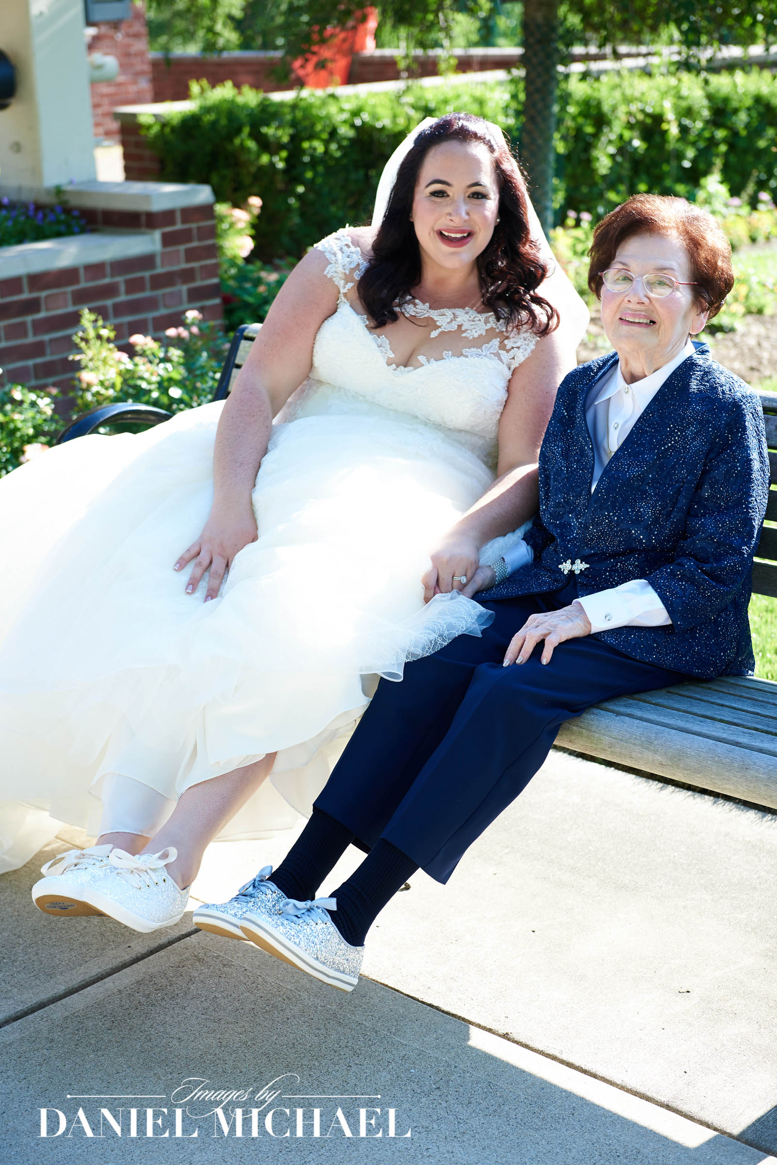 Wedding Shoes With Grandma