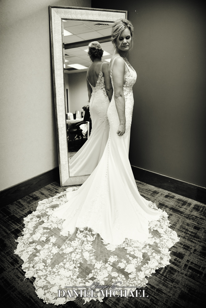 Bride In Mirror Wedding Photo
