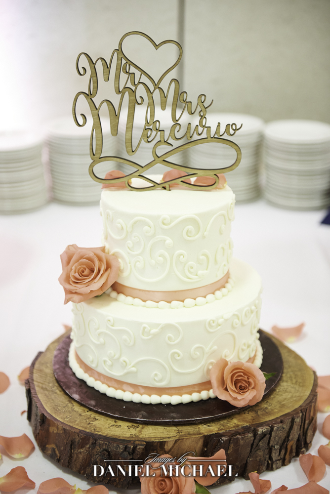 Dessertworks Wedding Cake with Topper