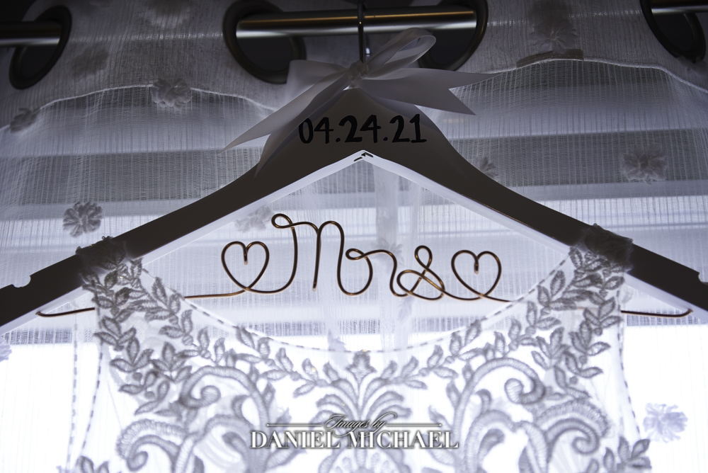 Custom Wedding Hanger Photo
