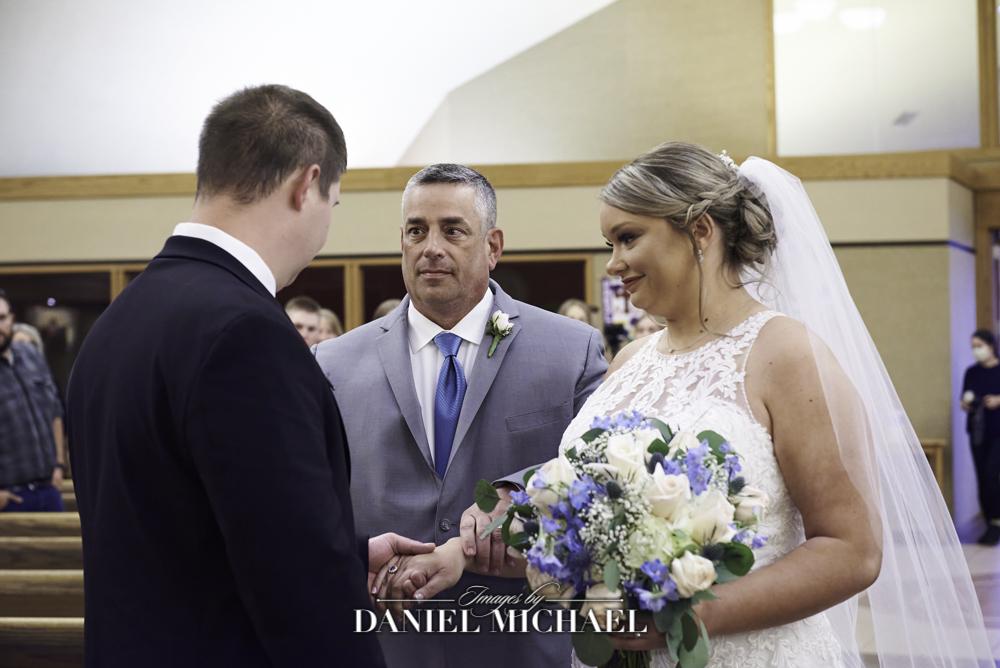 Dad Giving away Bride Photo