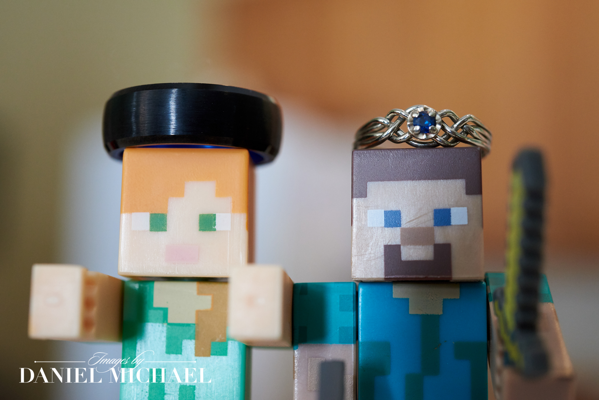 Minecraft Wedding Rings Photography