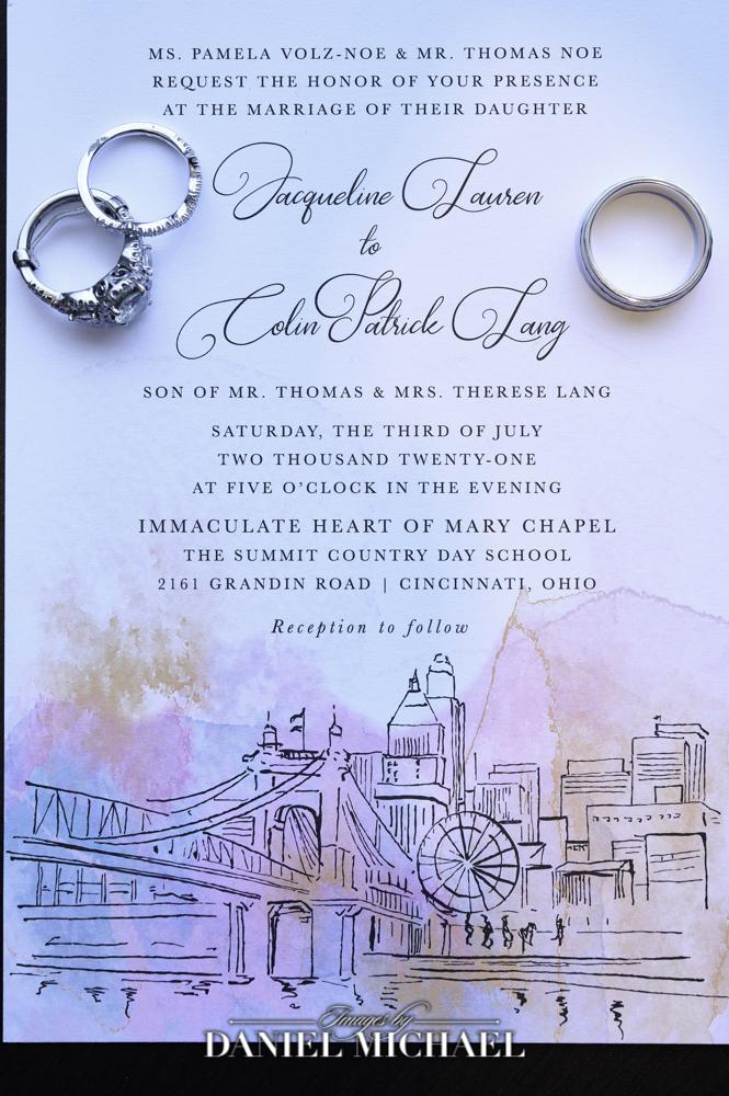 Posh Paper Invitation and Wedding Rings