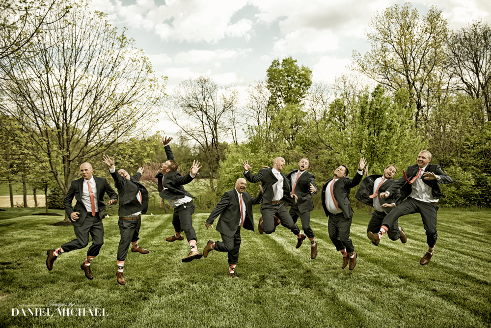 Wedding Photography Guys Jumping