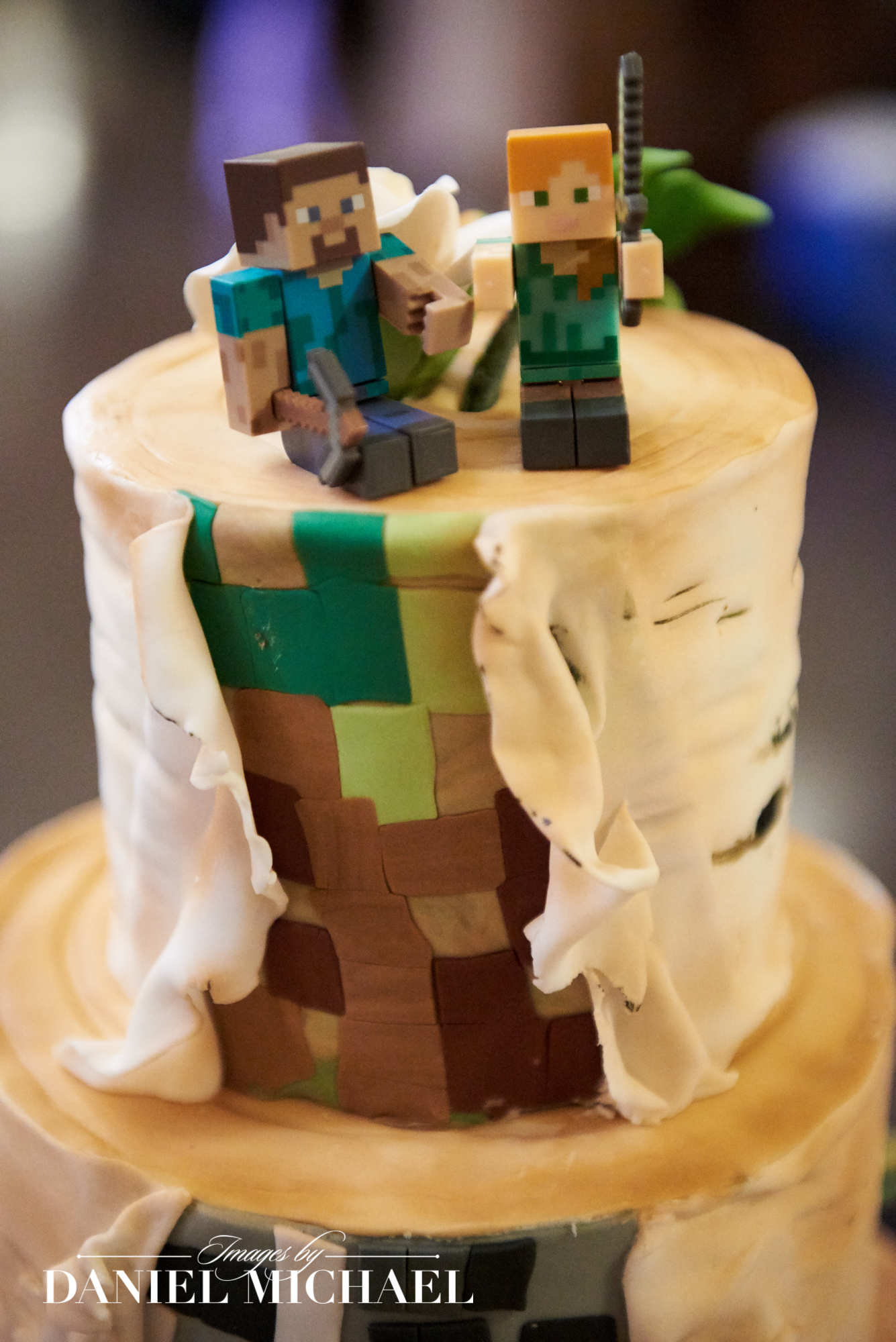 Minecraft Wedding Cake