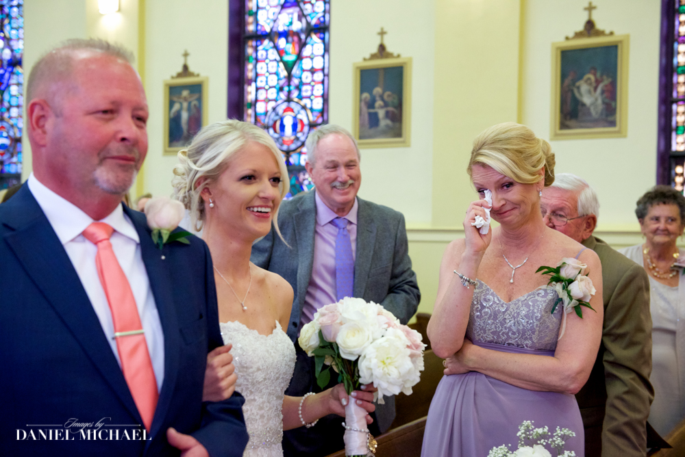 Mom Crying as Daughter Walks Down Aisle