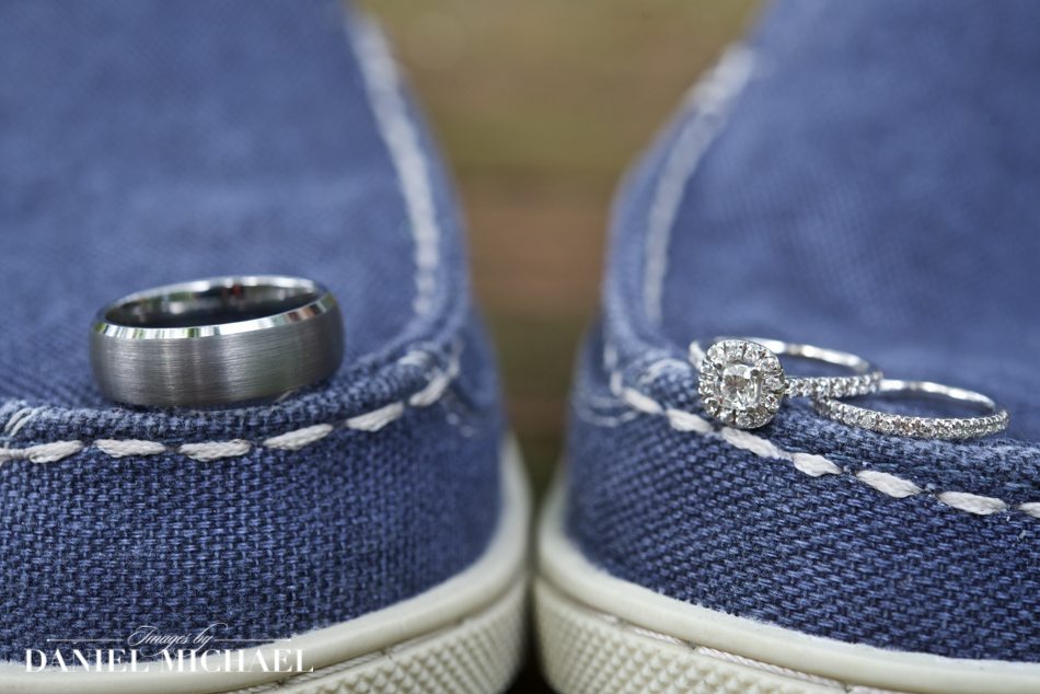 Wedding Rings on Boat Shoes