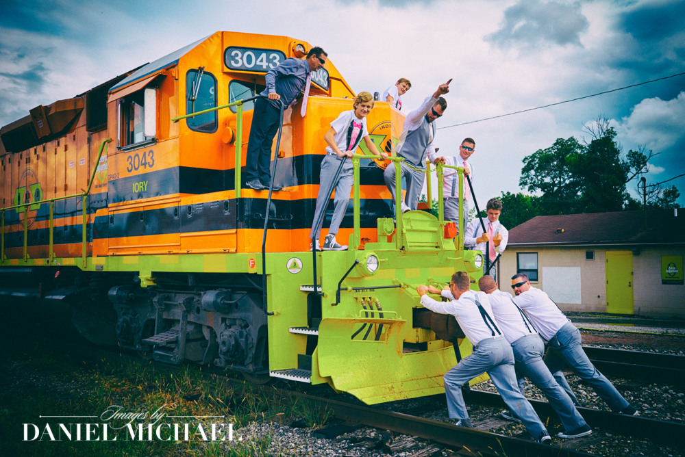 Train Engine Wedding Photography