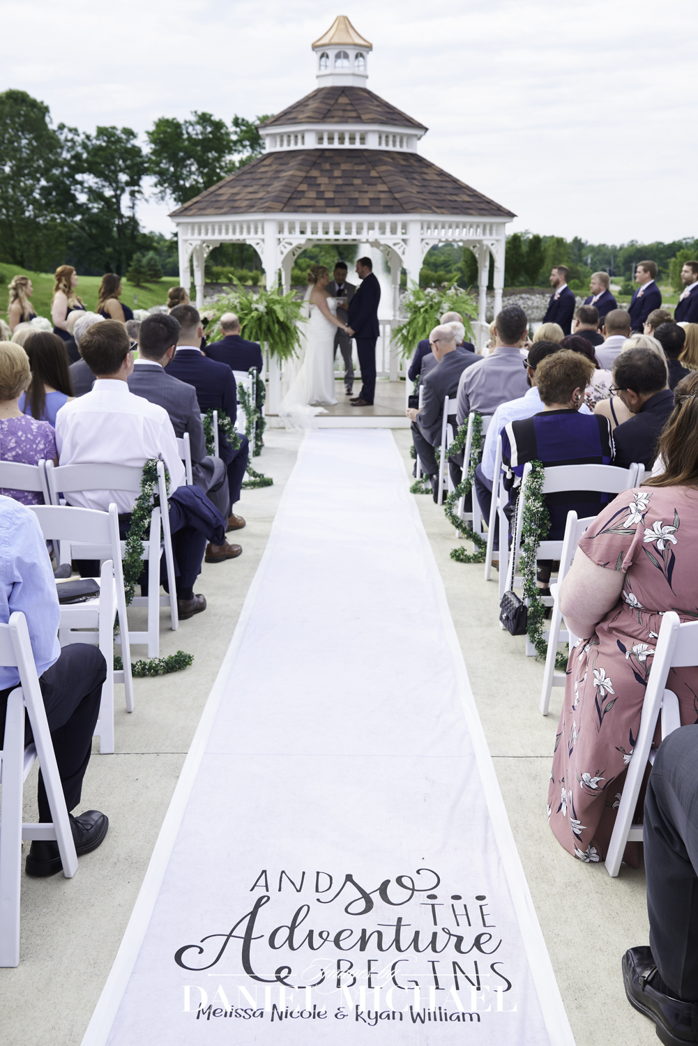 Oasis Gazebo Wedding Ceremony Photography