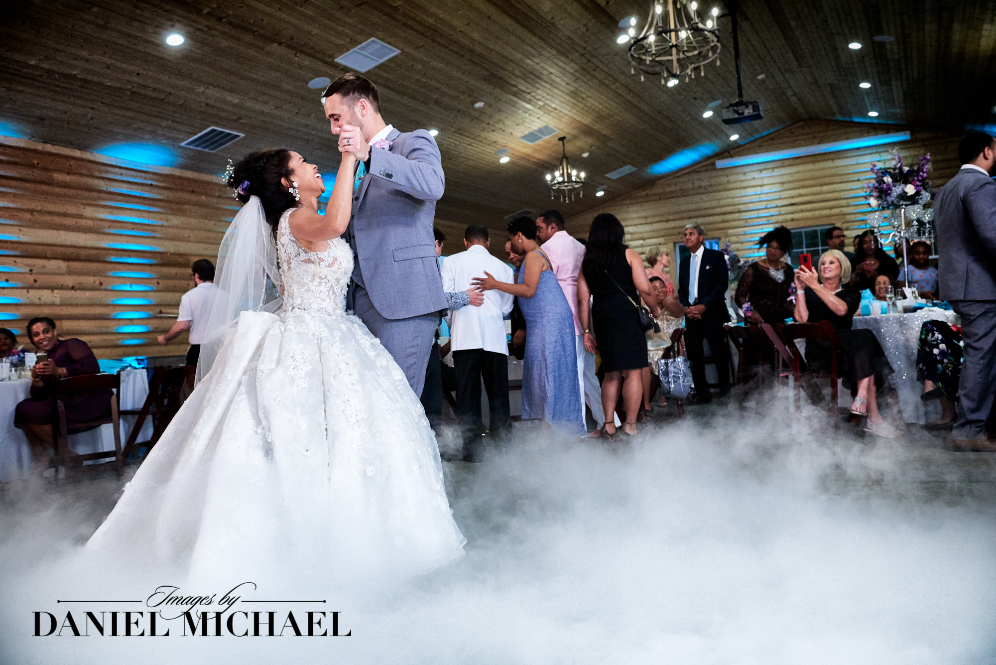 First Dance Dry Ice Wedding Photo