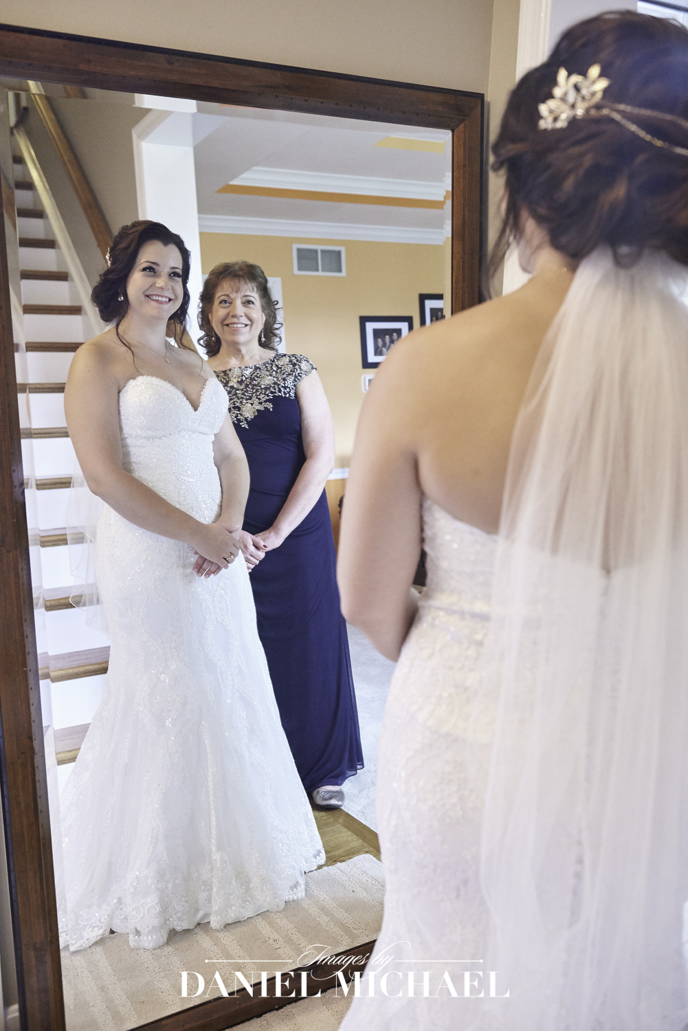 Bride and Mom Getting Ready