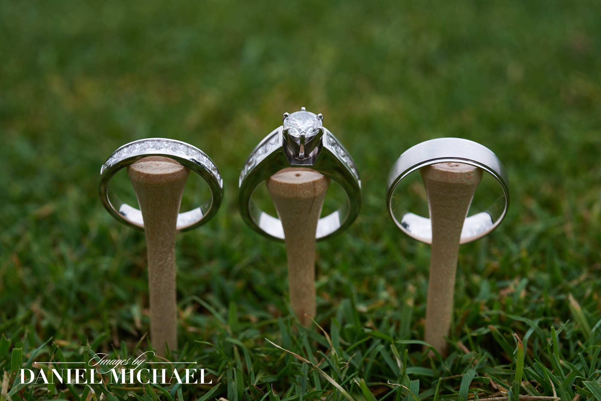 Wedding Rings Golf Tees