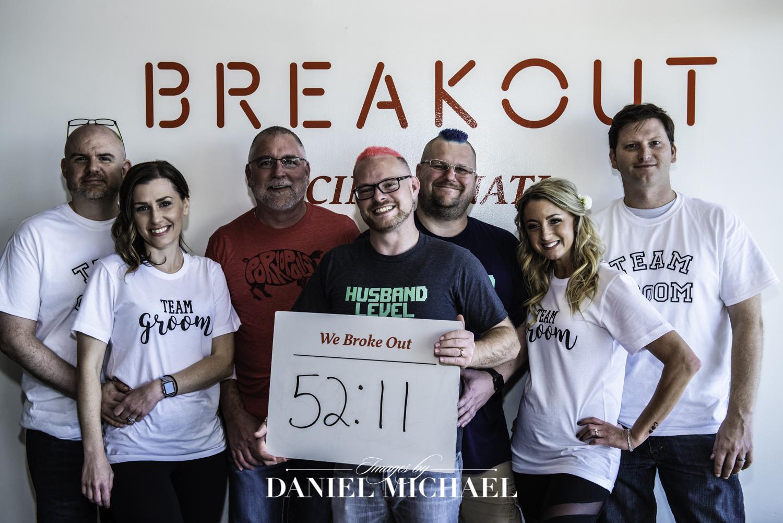 Breakout Games Wedding Photo