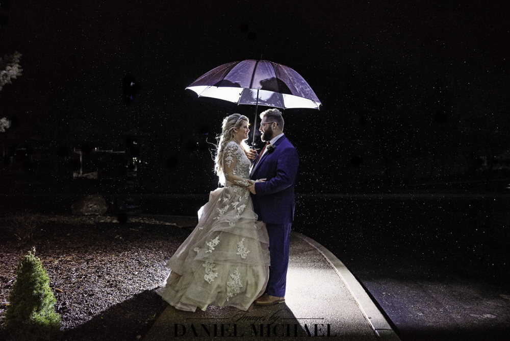 Wedding Day Rain Photo