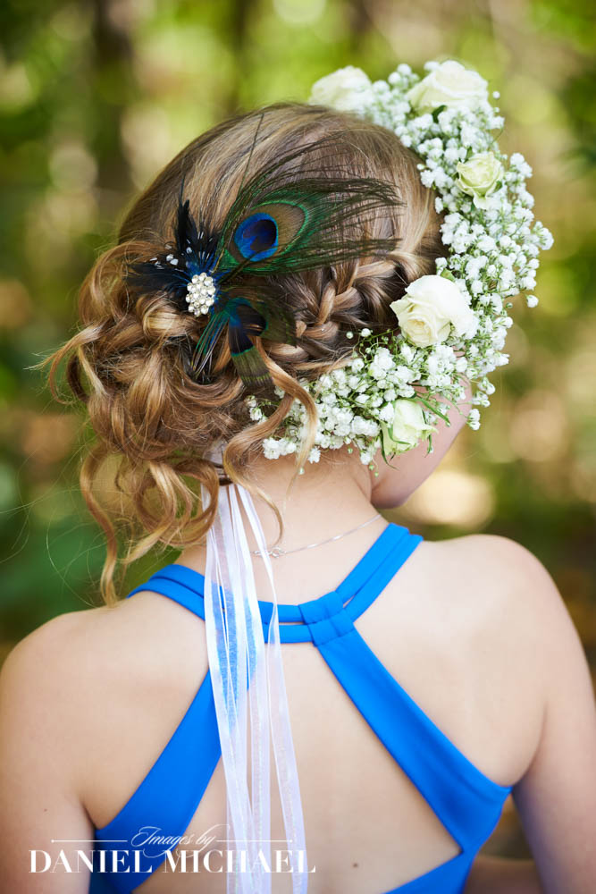Wedding Hair Flower Girl Photos