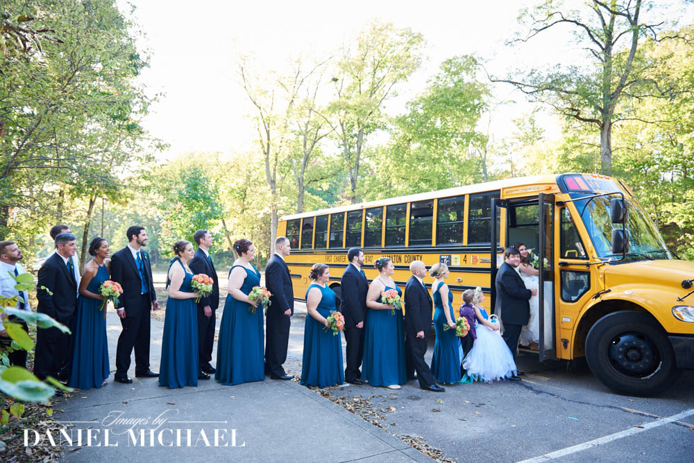 School Bus Wedding Photography