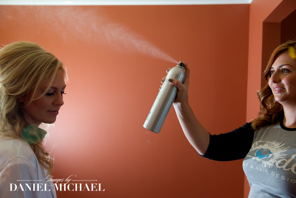Hair Spray Wedding Photo
