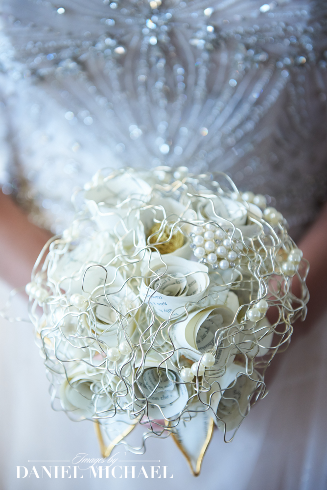 Wedding Flowers from Book Pages