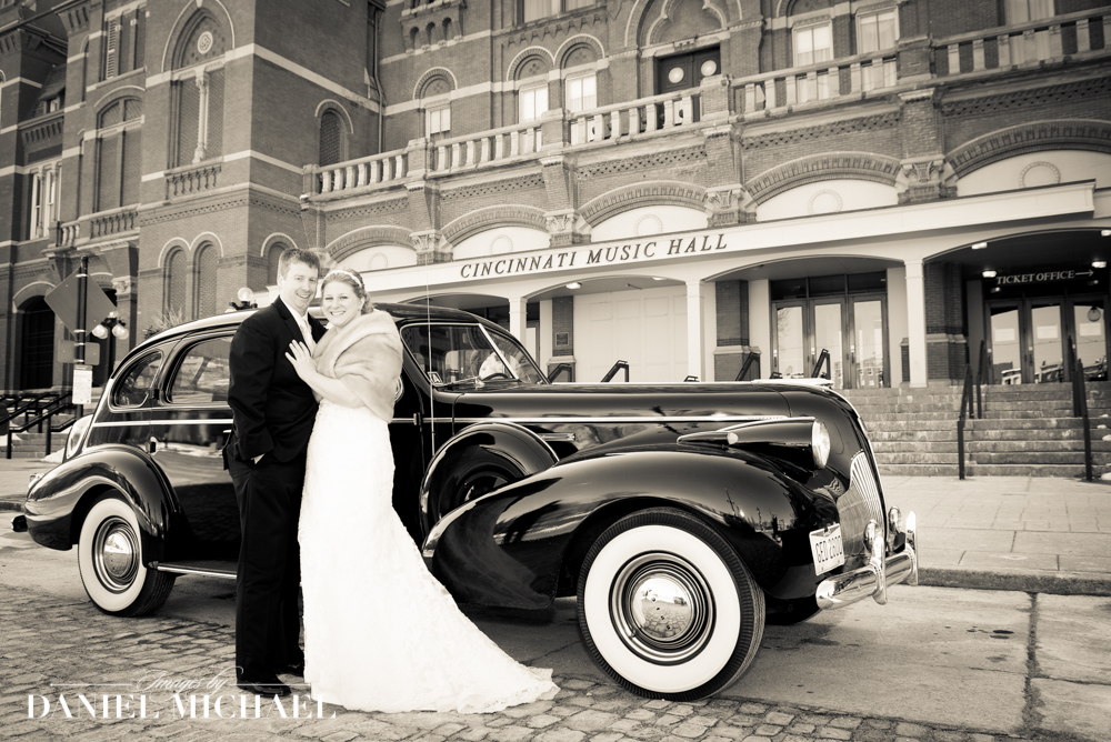 Cincinnati Music Hall Vintage Car Wedding