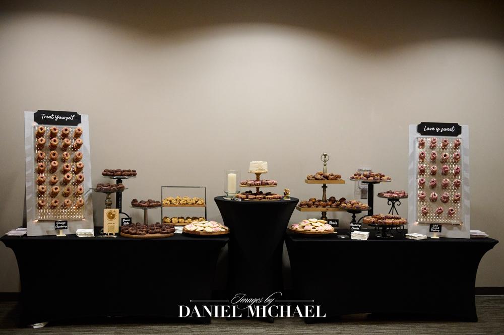 Donuts at Wedding Reception