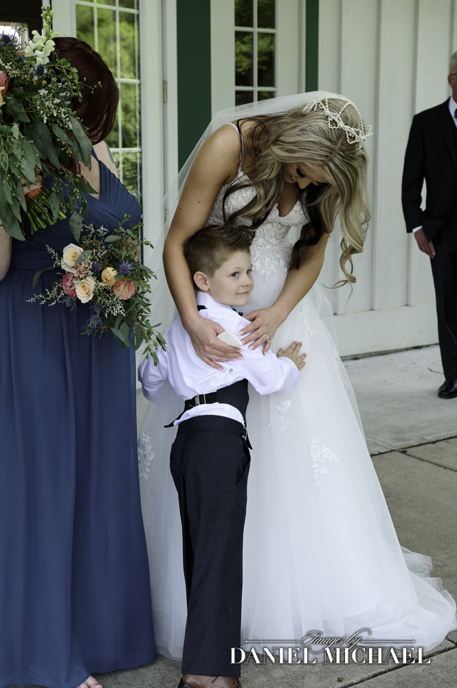 Bride and Son First Look Photo